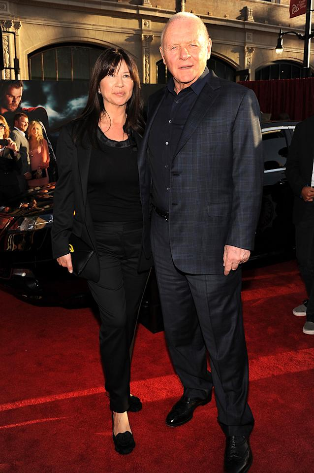 """<a href=""""http://movies.yahoo.com/movie/contributor/1800011674"""">Anthony Hopkins</a> and Stella Arroyave attend the Los Angeles premiere of <a href=""""http://movies.yahoo.com/movie/1810026342/info"""">Thor</a> on May 2, 2011."""