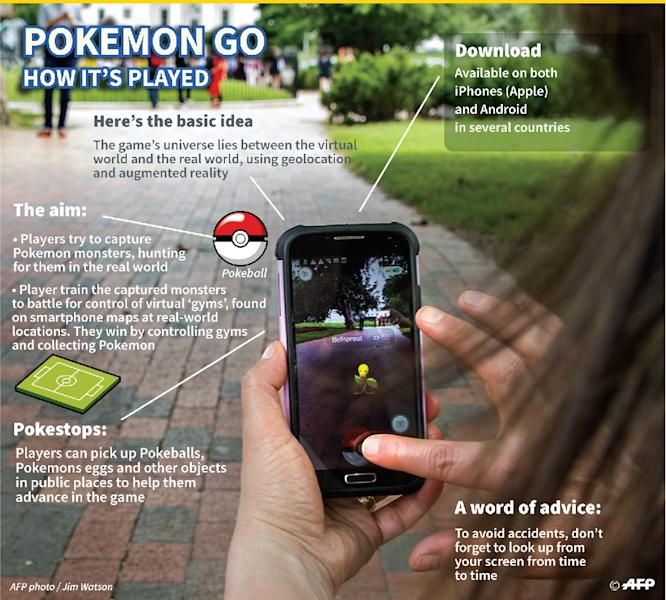 Pokemon Go: how it's played (AFP Photo/)