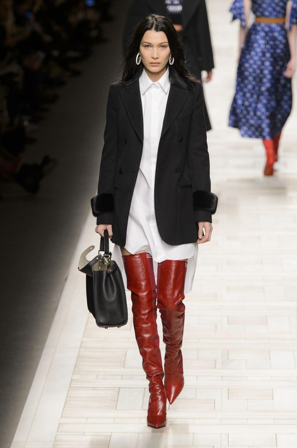 <p>Bella walking for Fendi AW17</p>