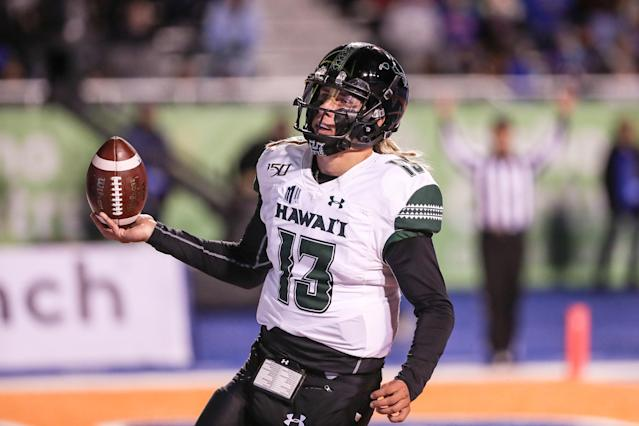 Hawaii quarterback Cole McDonald was a draft steal from the Group of Five, according to one coach. (Photo by Loren Orr/Getty Images)