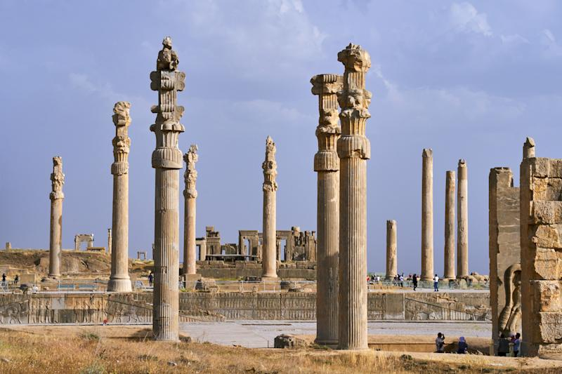 Ruins of the ancient city of Persepolis, a UNESCO World Heritage Site, which was once the richest city on earth and the capital of the Achaemenid Empire.