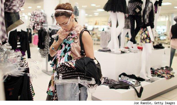 Irea Sotero shops the day before the start of a School Sales-Tax Holiday.