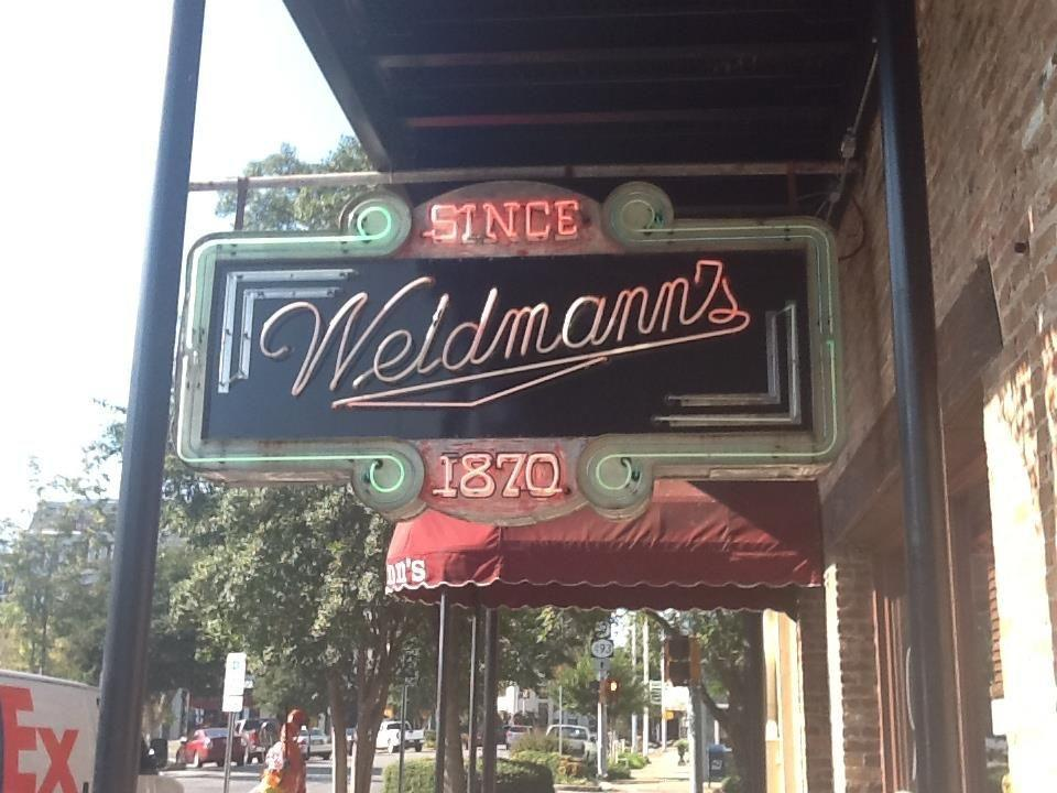 """<p>Felix Weidmann, a Swiss immigrant, started up this <a href=""""https://www.tripadvisor.com/Restaurant_Review-g43893-d547362-Reviews-Weidmann_s-Meridian_Mississippi.html"""" rel=""""nofollow noopener"""" target=""""_blank"""" data-ylk=""""slk:iconic spot"""" class=""""link rapid-noclick-resp"""">iconic spot</a> in 1870 when it was located in the Union Hotel. It moved to its present location in 1923 and has seen full renovations since. Visitors to Meridian, MS, stop in for top-notch Southern cuisine, like shrimp and grits and black bottom pie.</p>"""