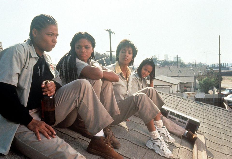 <p>Okay, if you aren't familiar with the cast of this '90s gem, allow us to tell you: It was Queen Latifah (cementing the braided hairstyle's popularity, among other things), Vivica A. Fox, and Jada Pinkett Smith.</p>