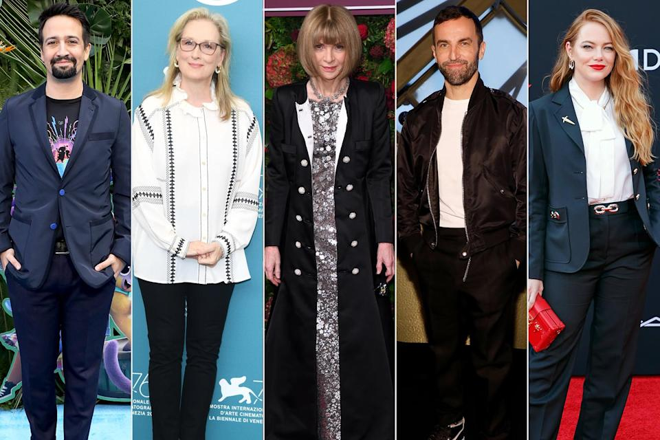 <p><em>The event was canceled due to the COVID-19 pandemic, but here's who would have chaired. </em></p> <p><strong>The theme: </strong>About Time: Fashion and Duration </p> <p><strong>The co-chairs: </strong>Lin-Manuel Miranda, Meryl Streep, Anna Wintour, Nicolas Ghesquière and Emma Stone </p>