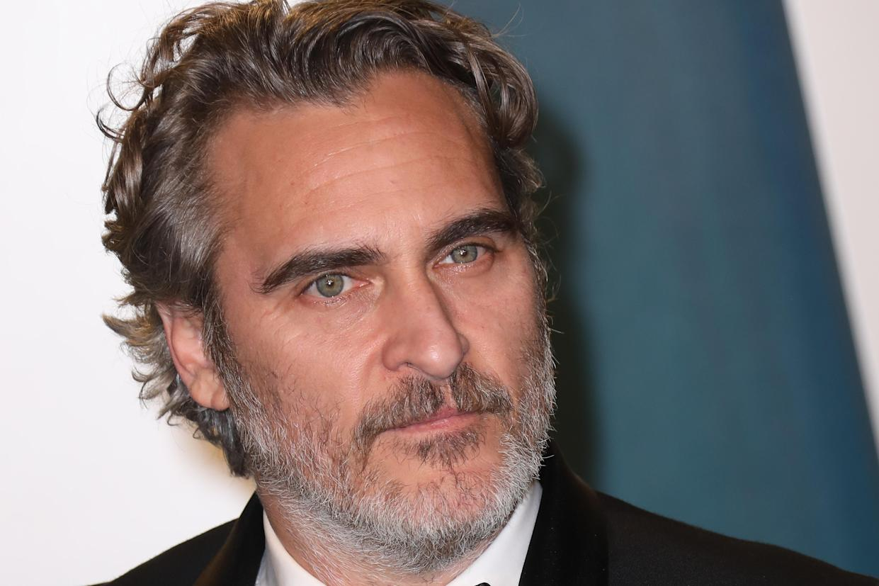 Actor Joaquin Phoenix, 46, says he hopes his son will be a vegan like himself. In a revealing new interview, Phoenix spoke about how he developed his passion for animal rights. (Photo: Toni Anne Barson/WireImage)