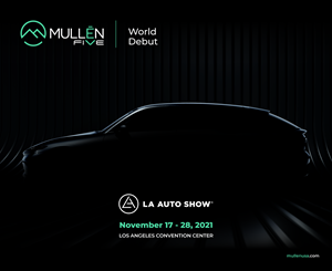 The Mullen FIVE EV Crossover will debut in November at the upcoming LA Auto Show.
