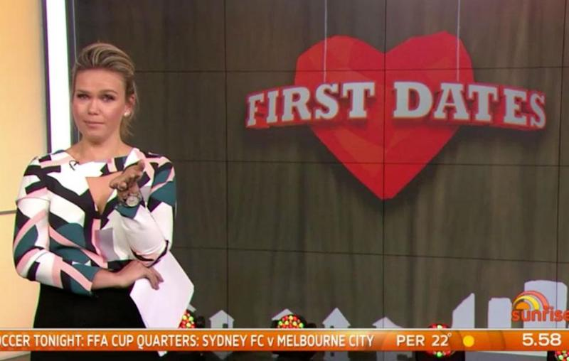 Edwina, who is set to tie the knot, suggested Sam date First Dates contestant Jake. Source: Channel Seven