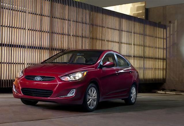 """<b><a href=""""http://autos.yahoo.com/hyundai/accent/"""" data-ylk=""""slk:Hyundai Accent"""" class=""""link rapid-noclick-resp"""">Hyundai Accent</a></b><br>MSRP: $14,545<br>MPG: 28 City / 37 Hwy<br><br>Hyundai perenially has the highest customer loylty rating, and the reliability of the automaker adds extra value to your already economical purchase: you're paying bottom-dollar for a investment that will last you many years. With 138 hp and 123 lb-ft, the performance is adequate coupled with the nice feel of the interior compared to other vehicles in this segment."""