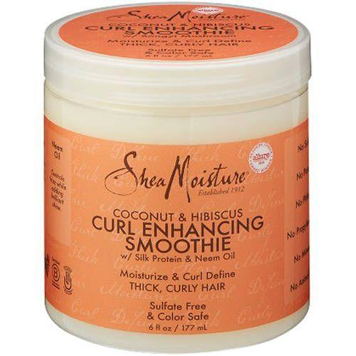 "<p><strong>SheaMoisture</strong></p><p>walmart.com</p><p><strong>$8.32</strong></p><p><a href=""https://go.redirectingat.com?id=74968X1596630&url=https%3A%2F%2Fwww.walmart.com%2Fip%2F51222499&sref=https%3A%2F%2Fwww.goodhousekeeping.com%2Fbeauty%2Fhair%2Fg34838457%2Fbest-natural-hair-products%2F"" rel=""nofollow noopener"" target=""_blank"" data-ylk=""slk:Shop Now"" class=""link rapid-noclick-resp"">Shop Now</a></p><p>If you're a newbie to curly stylers, this Shea Moisture cream is a great place to start, especially for thick or <a href=""https://www.goodhousekeeping.com/beauty/hair/tips/g1820/celebrity-hairstyles-layers-may07/"" rel=""nofollow noopener"" target=""_blank"" data-ylk=""slk:long hair"" class=""link rapid-noclick-resp"">long hair</a>, as the large tub contains more product than others. This curl-enhancing smoothie is<strong> thick enough to hydrate and define hair, but it doesn't weigh strands down.</strong> Try applying it straight out of the shower and raking it through the hair thoroughly for best results. Bonus: Your hair will smell like a <a href=""https://www.goodhousekeeping.com/best-smoothie-recipes/"" rel=""nofollow noopener"" target=""_blank"" data-ylk=""slk:tropical smoothie"" class=""link rapid-noclick-resp"">tropical smoothie</a> for days!</p>"
