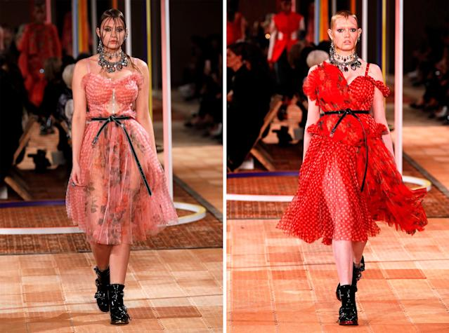 Two curvy models walked in Alexander McQueen's show. (Photo: Getty Images)