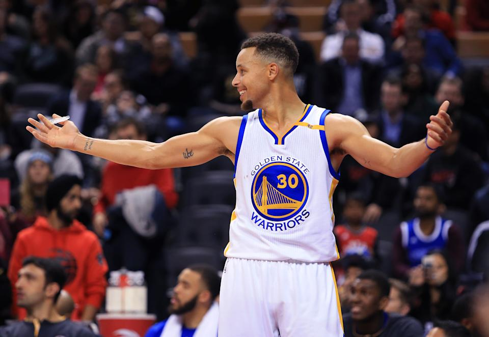 Steph Curry #30 of the Golden State Warriors