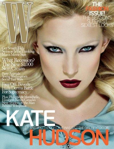 "<div class=""caption-credit""> Photo by: W</div><div class=""caption-title""></div>Natural beauty Kate Hudson was given a shockingly Plasticine makeover on the September 2008 cover of W."