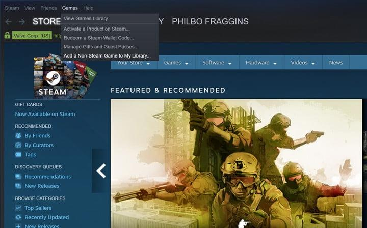 how to add games to steam non-steam game