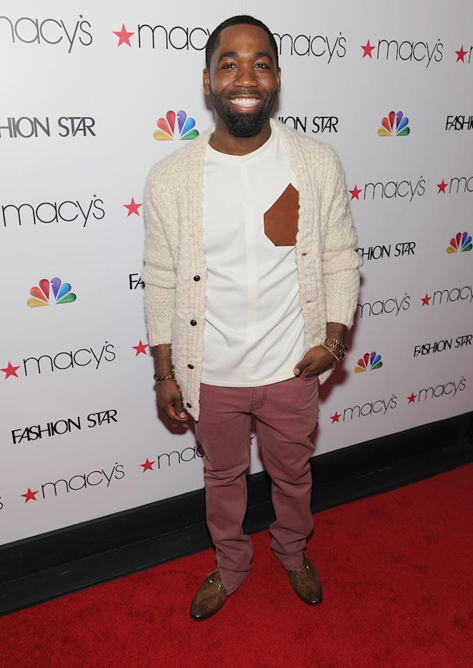"Designer and 'Fashion Star' participant Nzimiro Oputa attends the ""<a target=""_blank"" href=""http://tv.yahoo.com/fashion-star/show/47285"">Fashion Star</a>"" celebration at Macy's Herald Square on March 13, 2012 in New York City."
