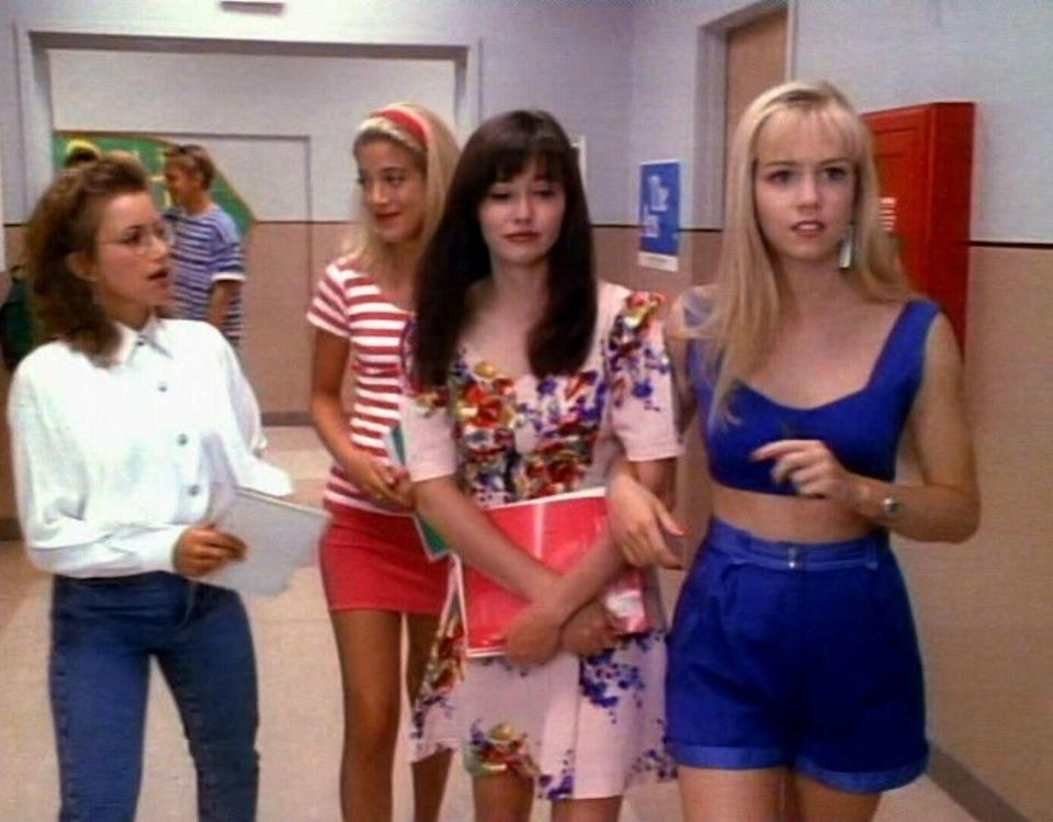 <p>Kelly, Donna, and Brenda ruled the hallways at West Beverly Hills High — and the actresses who portrayed them, Jennie Garth, Tori Spelling, and Shannen Doherty respectively, became teen idols and household names in the real world. They would shop and have sleepovers, and while they had a fair share of drama, there was no denying that they were #goals for so many young women. <i>(Source: 90210 Productions)</i></p>