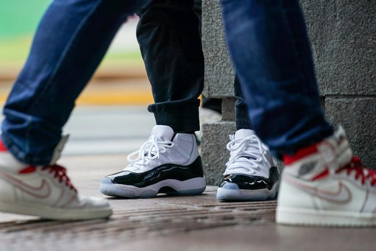 Sneakers are embraced by younger investors seeking quick profits in a commodity they can relate to (AFP Photo/STR)