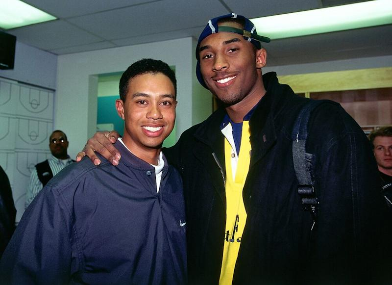 Tiger Woods and Kobe Bryant in 1997 | Andrew D. Bernstein/NBAE/Getty