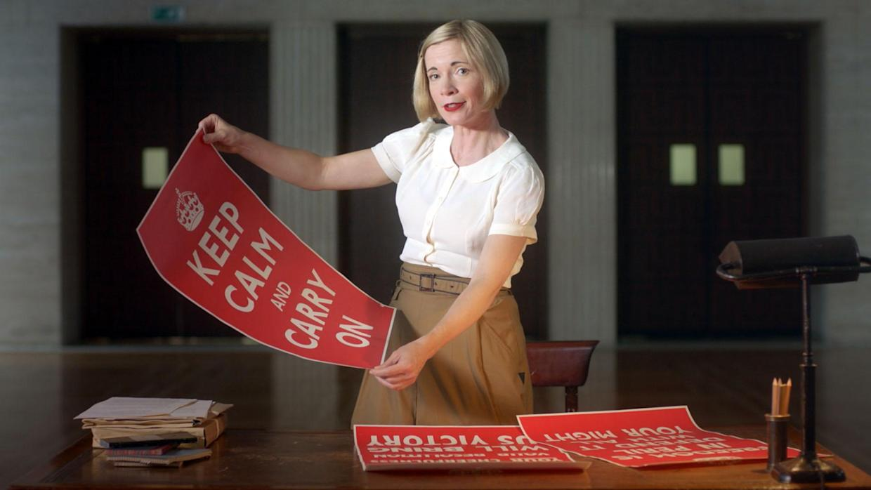 Blitz Spirit with Lucy Worsley. (BBC/Brook Lapping)