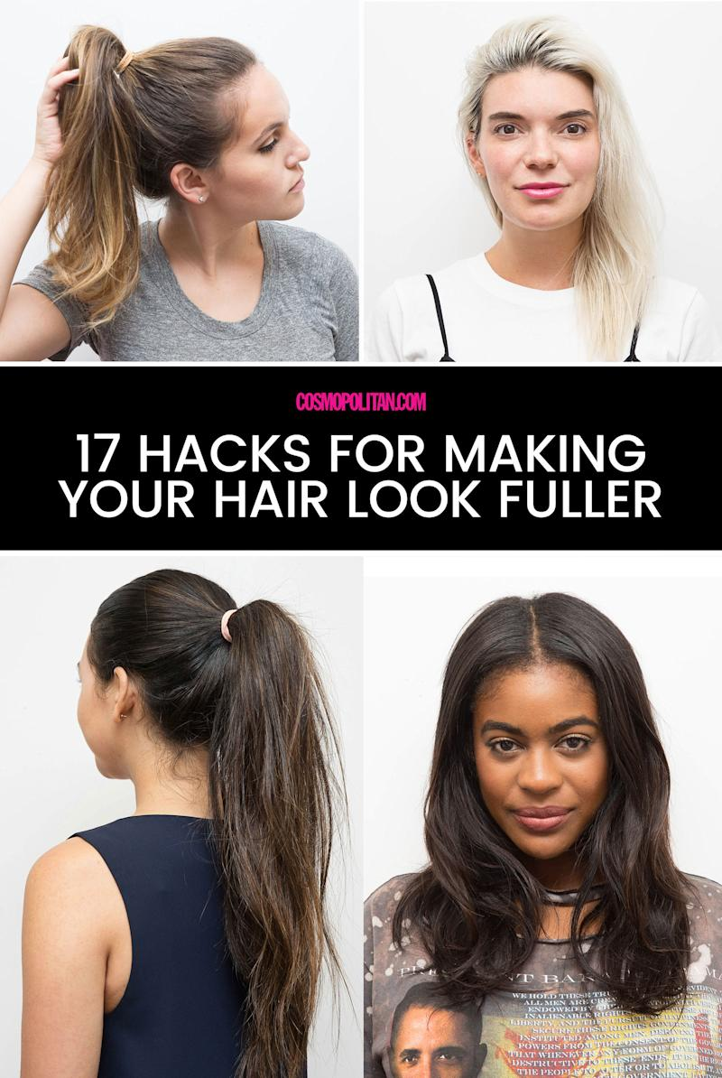 how to make your hair look thicker and fuller