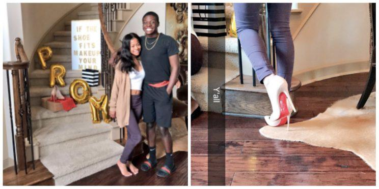 91205c96bdd Promposal Featuring $675 Louboutin Heels Is Tearing Up the Internet