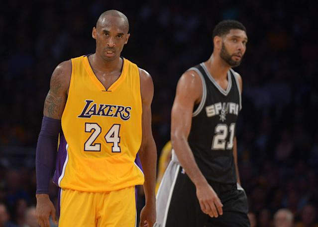 The Hall of Fame induction of Kobe Bryant, Tim Duncan and several others will come in the spring. (Kirby Lee-USA TODAY Sports)
