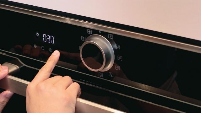 adjust oven temperature and steam the food
