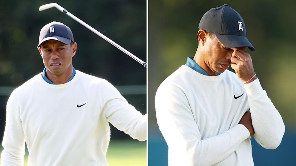 Pictured here, a frustrated Tiger Woods at the 2020 US Open.
