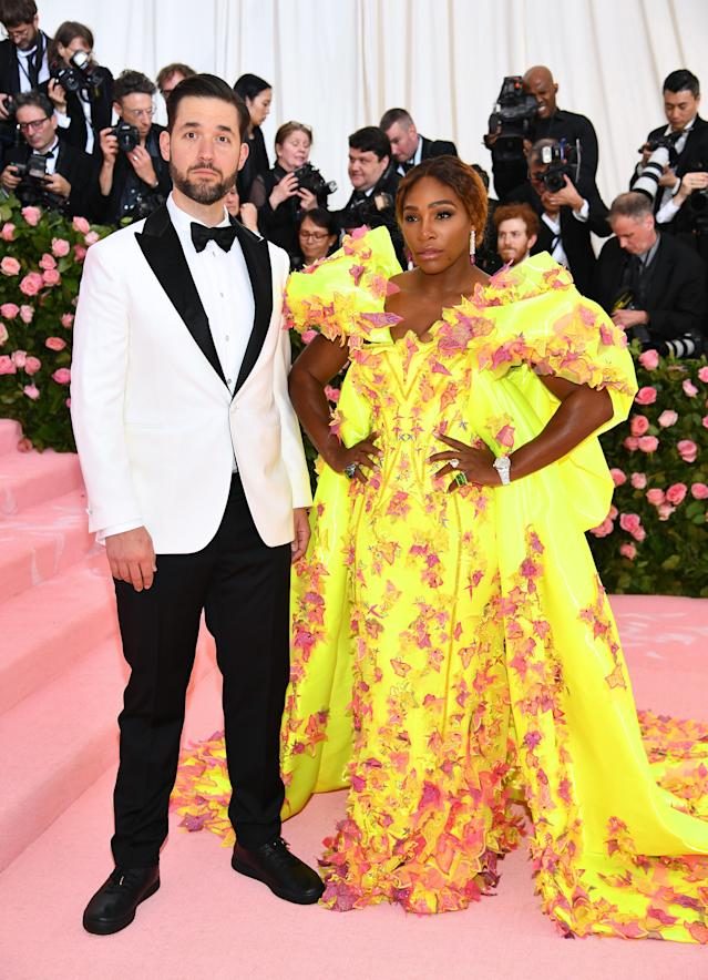 Serena Williams and Alexis Ohanian attend The 2019 Met Gala Celebrating Camp: Notes on Fashion at Metropolitan Museum of Art on May 06, 2019 in New York City. (Photo by Dimitrios Kambouris/Getty Images for The Met Museum/Vogue)