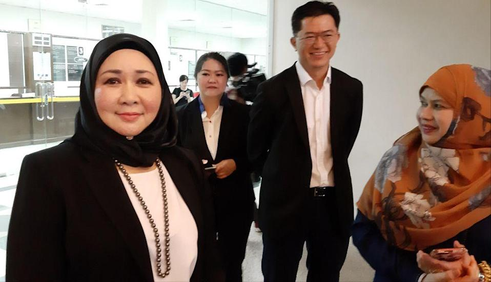 Sarawak assistant law minister Datuk Sharifah Hasidah Syeed Aman Ghazali said the withdrawal indicates Petronas's acknowledgment and recognition of the state's constitutional right to impose SST on crude petroleum product.. — Picture by Sulok Tawie