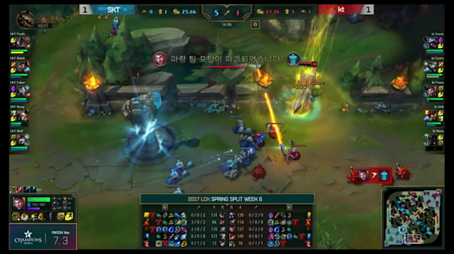 Deft and pawN pressure turrets in exchange for SKT's group top (lolesports)