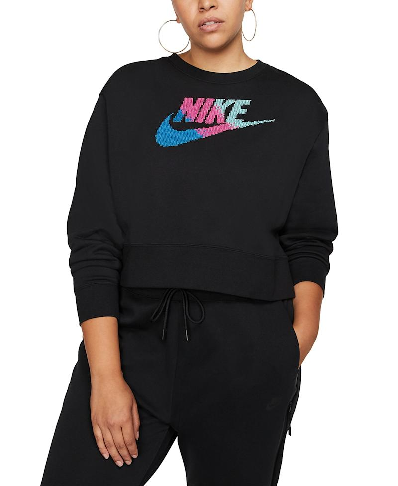 Nike Sportswear Fleece Crewneck. (Photo: Macy's)