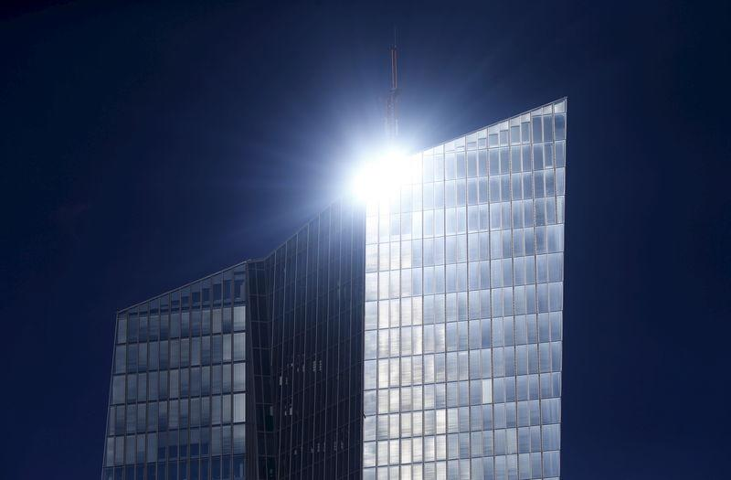 The headquarters of the European Central Bank (ECB) is pictured in Frankfurt