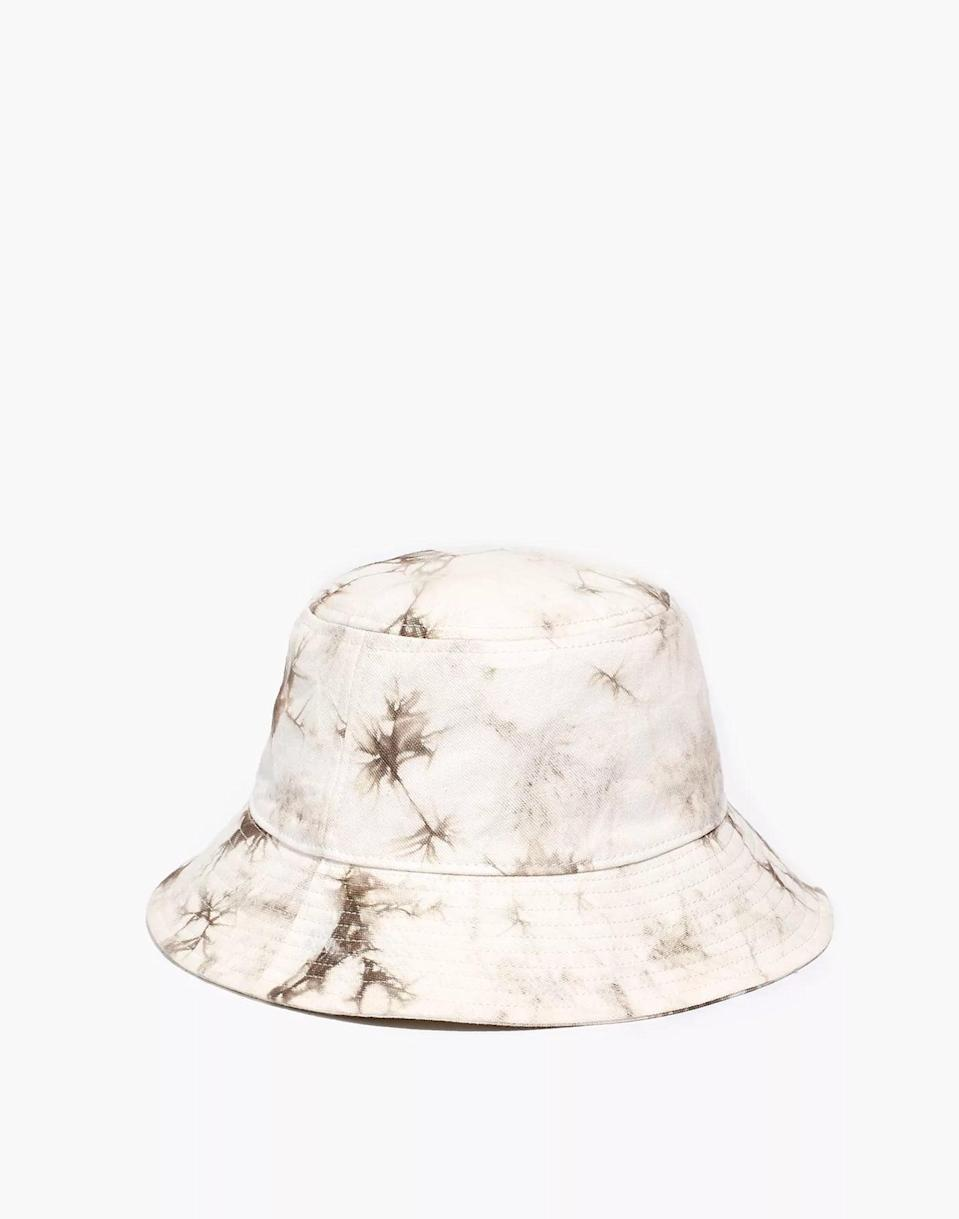 <p>For a subtle take on the tie-dye trend, try this <span>Madewell Tie-Dye Short-Brimmed Bucket Hat</span> ($32). Because two trends are better than one. </p>