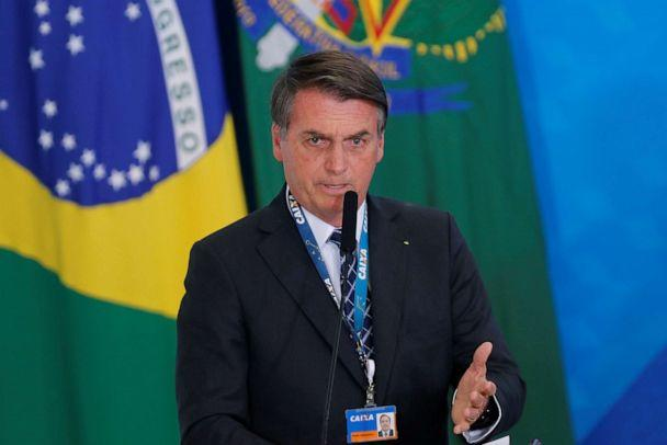 PHOTO: Brazilian President Jair Bolsonaro speaks during the launching ceremony of the real estate credit program at the Planalto Palace in Brasilia, Brazil, Aug. 20, 2019. (Adriano Machado/Reuters)