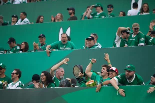 COVID-19 and the Delta variant didn't deter more than 33,000 fans from packing Mosaic Stadium Friday night. One of, if not the largest mass gathering in Canada since the start of the pandemic. (Kayle Neis/The Canadian Press - image credit)
