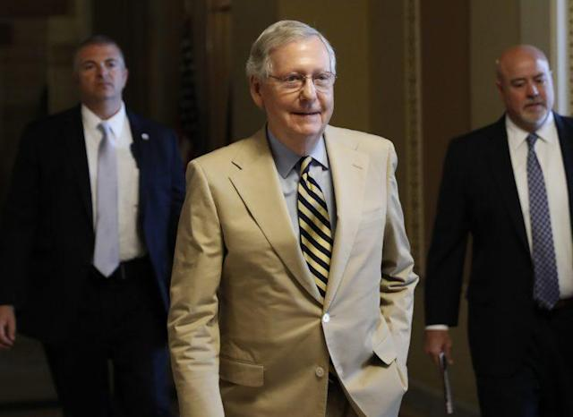 Senate Majority Leader Mitch McConnell on Capitol Hill, June 26, 2017. (Photo: Carolyn Kaster/AP)