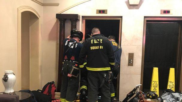 PHOTO: New York Fire Department members investigate an incident with an elevator in an apartment building in New York city. (@FDNY/Twitter)