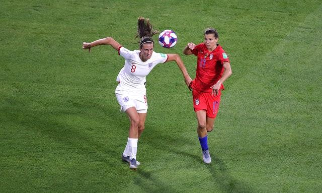 Tobin Heath (right) helped the United States win the 2019 Women's World Cup (Richard Sellers/PA).