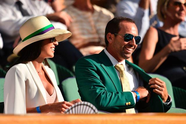 Angela Akins and Sergio Garcia. (Getty)