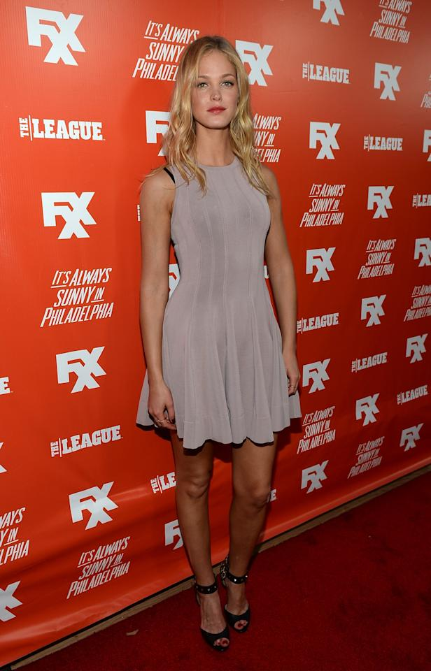 "HOLLYWOOD, CA - SEPTEMBER 03: Actress Erin Heatherton attends the premiere and launch party for FXX Network's ""It's Always Sunny In Philadelphia"" and ""The League"" at Lure on September 3, 2013 in Hollywood, California. (Photo by Michael Buckner/Getty Images)"