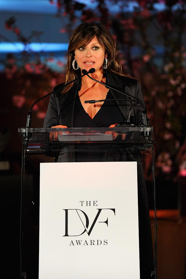 NEW YORK, NY - MARCH 09:  Television journalist Maria Bartiromo speaks onstage at the 3rd annual Diane Von Furstenberg awards at the United Nations on March 9, 2012 in New York City.  (Photo by Andrew H. Walker/Getty Images)