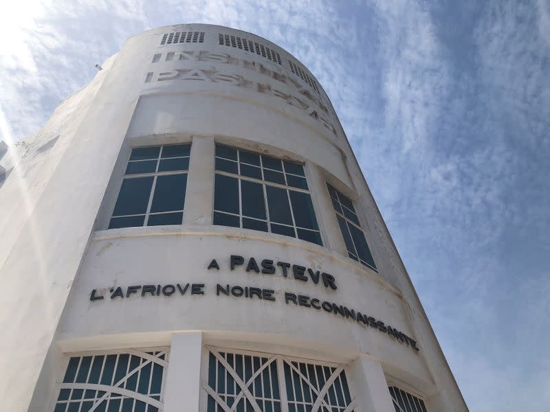 FILE PHOTO: A view of the Pasteur Institute building in Dakar