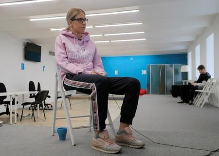 Russian opposition politician Lyubov Sobol attends an interview with Reuters