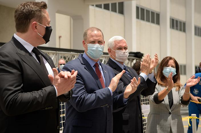 Guests at Kennedy were limited in number and wore masks because of coronavirus