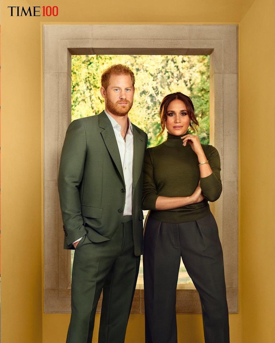 Prince Harry and Meghan Markle photographed for TIME Magazine (Photograph by Pari Dukovic for TIME)