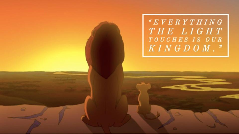 The Lion King movie quote