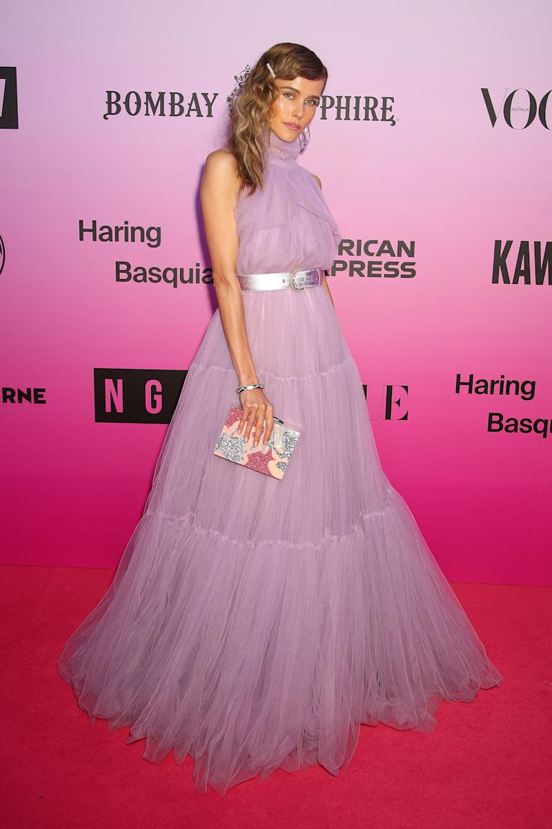 Isabel Lucas attends the NGV Gala on November 30, 2019, in Melbourne. She says her good health made her feel that a coronavirus test was unneeded. (Photo: Graham Denholm via Getty Images)