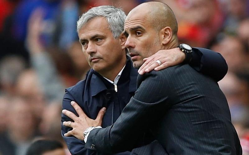 Jose Mourinho (left) and Pep Guardiola will again go head-to-head on Thursday night - Action Images via Reuters