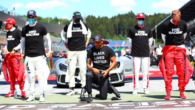 Formula 1 2020: F1 drivers wear black t-shirts with 'End Racism' on it; six of 20 refuse to take the knee
